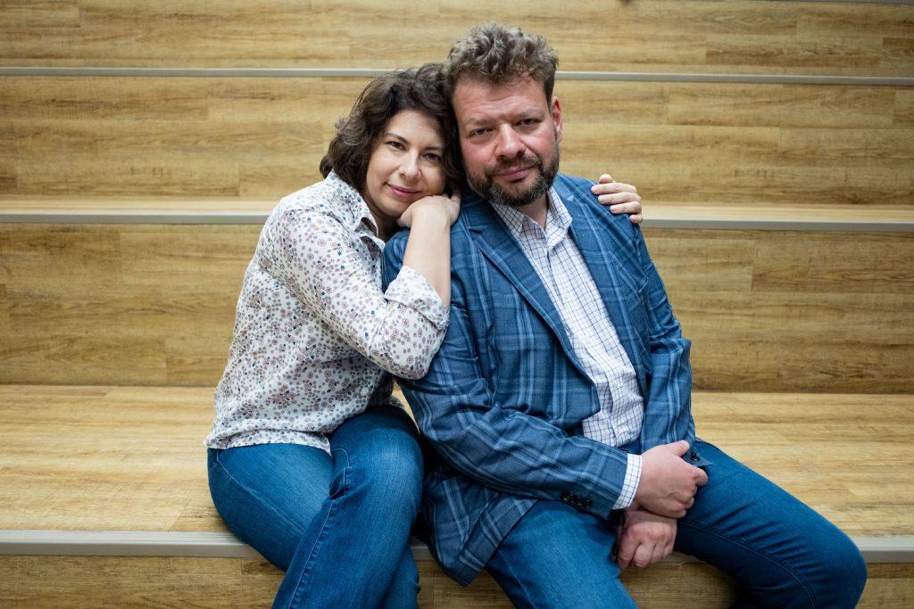 Петр Чернышов с женой