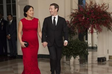 Присцилла Чан и Марк Цукерберг в Белом доме 25 сентября 2015 год