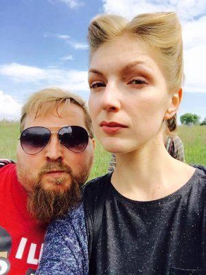 Катерина Звездина с мужем Юрием