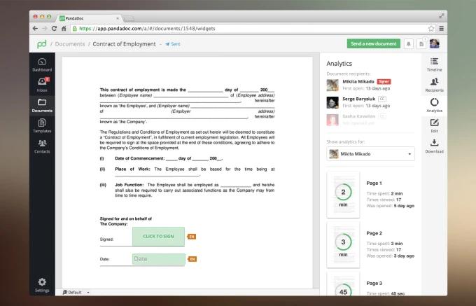 PandaDoc: Электронная подпись, документооборот