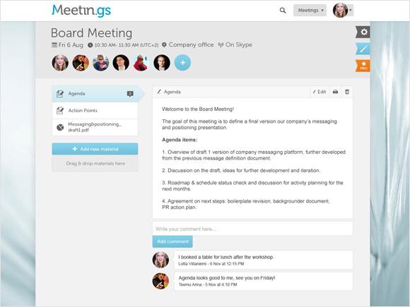 Meetin.gs: Онлайн-менеджер встреч