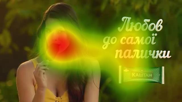 «Тепловые карты» рекламы «Каштан» и «Три медведя»