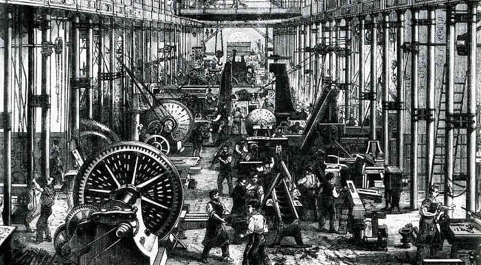 Вереница британских изобретателей начала строить бизнес вокруг инновационных технологий, изменявших механику текстильной, энергетической и металлообрабатывающей промышленностей. Среди этих первопроходцев были такие легендарные личности, как Джеймс Уатт (создал тепловой двигатель) и Ричард Акрайт (изобрел прядильную машину).