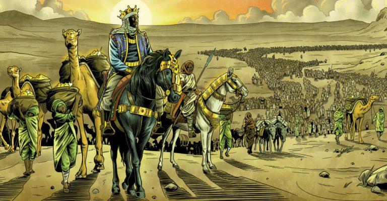 Чтобы прокормить всю эту толпу, следом гнали стада коз и овец. Таким образом, через пустыню двигался целый город. Все его обитатели, включая рабов, были одеты в золотую парчу и тончайший персидский шелк. В хвосте каравана шла сотня верблюдов, нагруженных тоннами чистого золота.