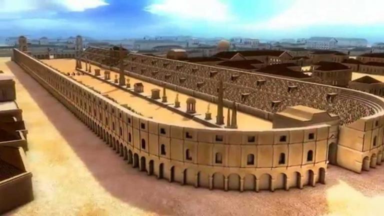 Большой цирк в Риме был крупнейшим спортивным стадионом Римской империи. Фото: youtube.com