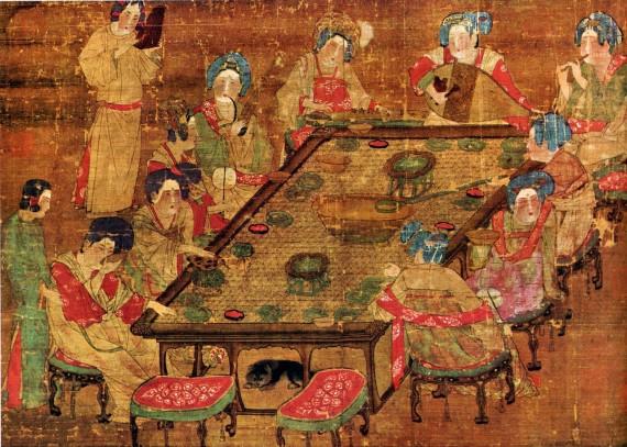 К восьмому веку чайные церемонии уже стали национальным времяпрепровождением в Китае, чайная торговля была оживленной.