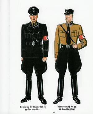 Униформа офицеров СС, спроектированная дизайнерами Hugo Boss. Фото: Wikimedia Commons