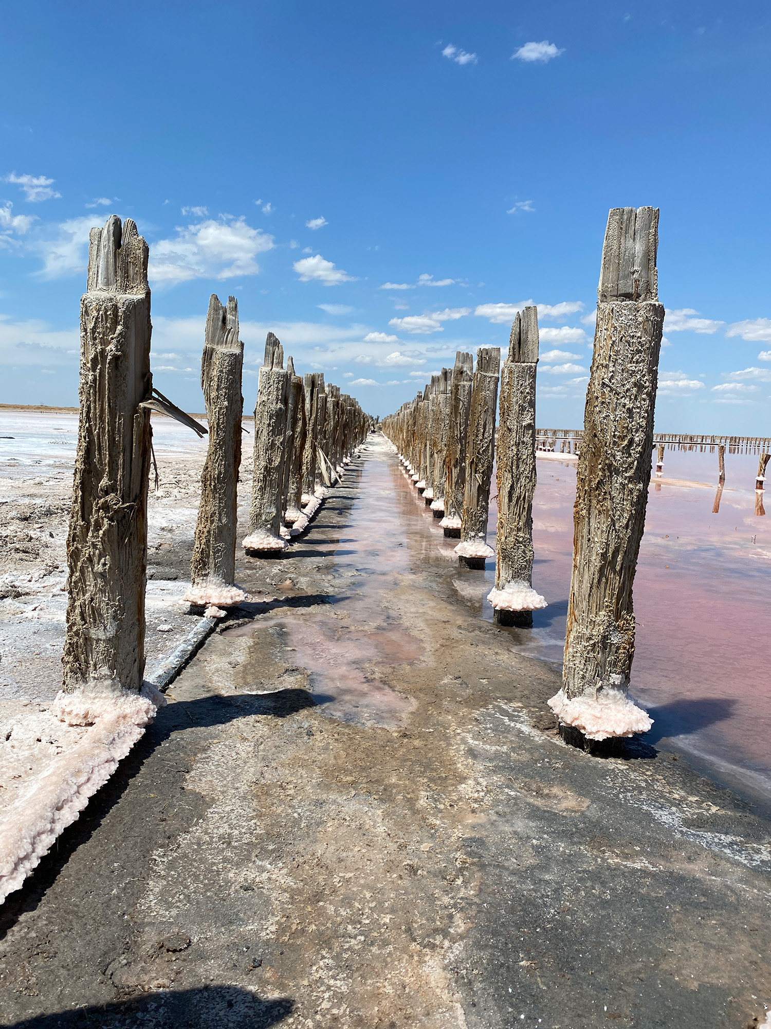 Рожеве озеро - генічеське озеро