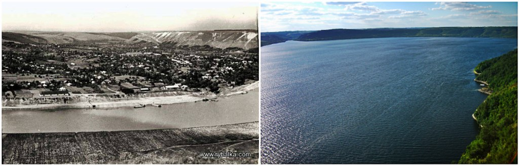Бакота до и после затопления/ Фото взято с vidviday.ua