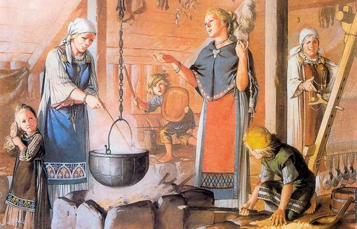 Уильям Фицхью, археолог из Смитсоновского института, добавил, что «рабыни были наложницами, поварами и домашней прислугой». Рабы-мужчины, скорей всего, рубили лес, строили корабли и служили на них гребцами.