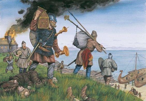 Арабский географ Мухаммед ибн Хаукаль описывал работорговлю викингов в 977 г. до н.э.. По его словам, они торговали людьми по всему Средиземноморью, от Испании до Египта. Другие историки писали, что рабов из северной Европы привозили в Византию и Багдад через Россию.