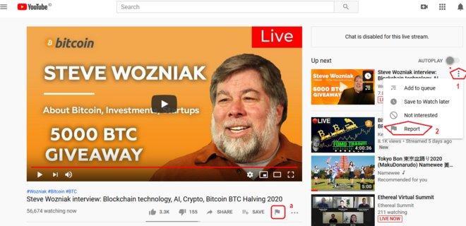 Скриншот видео мошенников