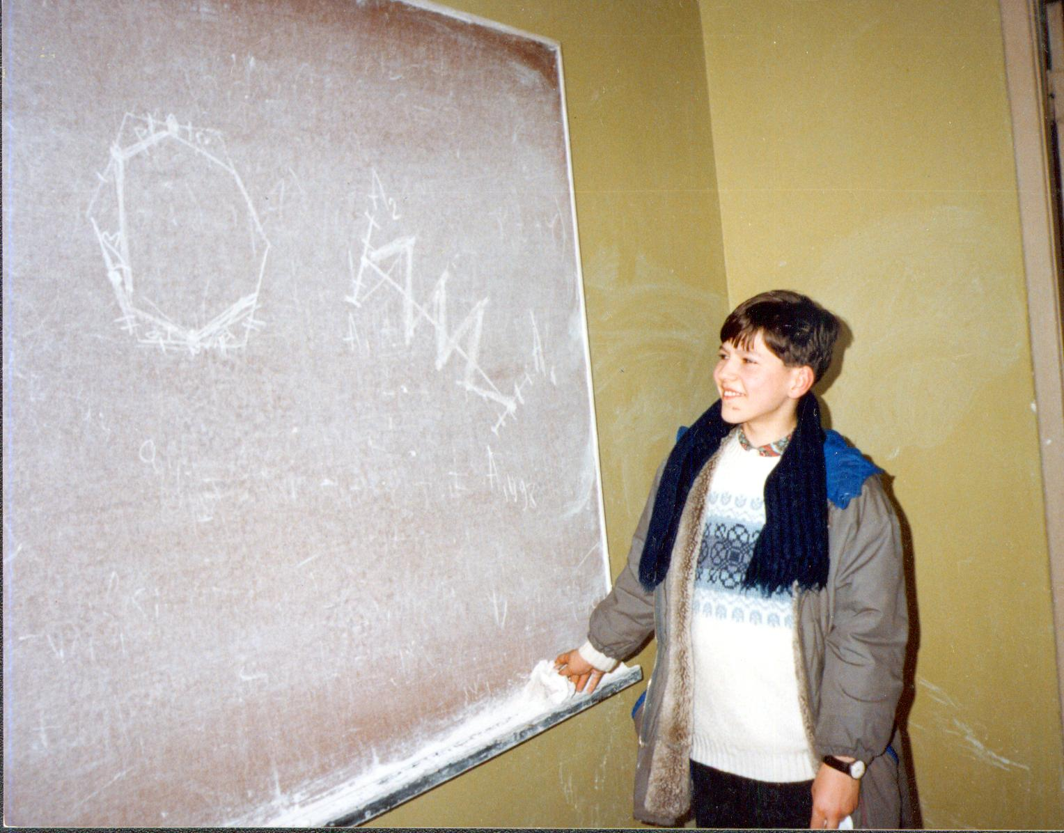 Евгений Сергеев в 9 классе на олимпиаде по математике/ Фото из личного архива