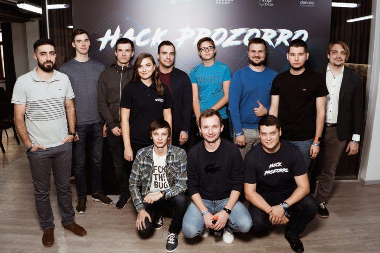 Сергей Харюк с командой Hacken.io