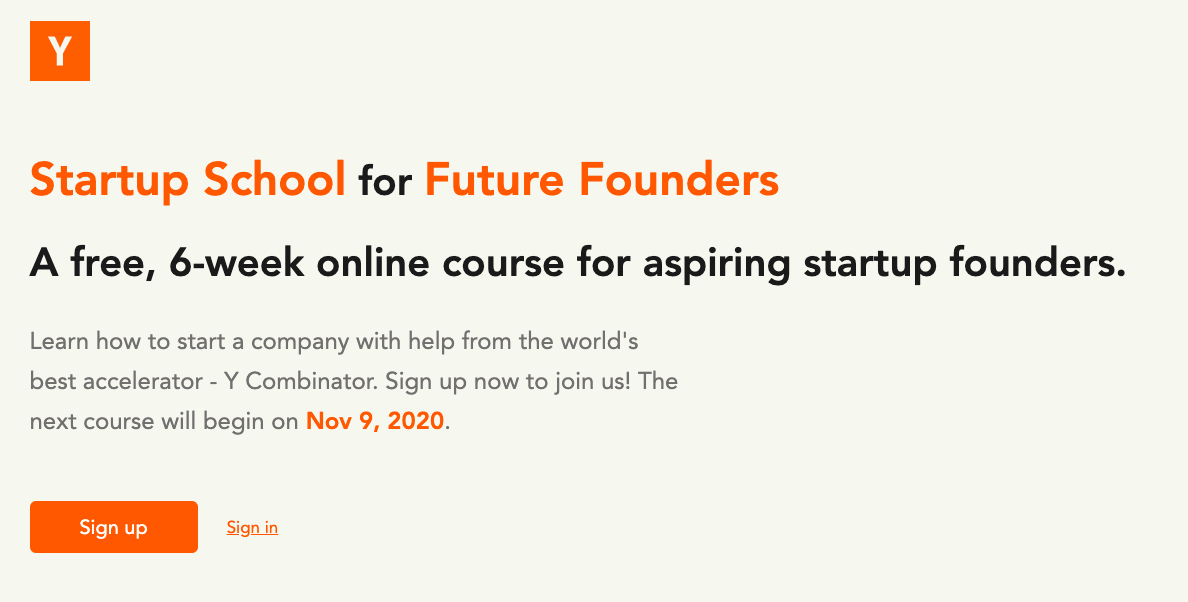 Startup School for Future Founders