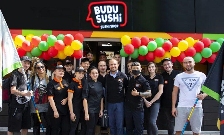 Открытие пятого магазина BUDUSUSHI 17 августа 2020 года в Одессе