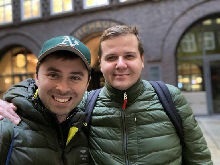 Максим Слободянюк с Александром Голдыбиным
