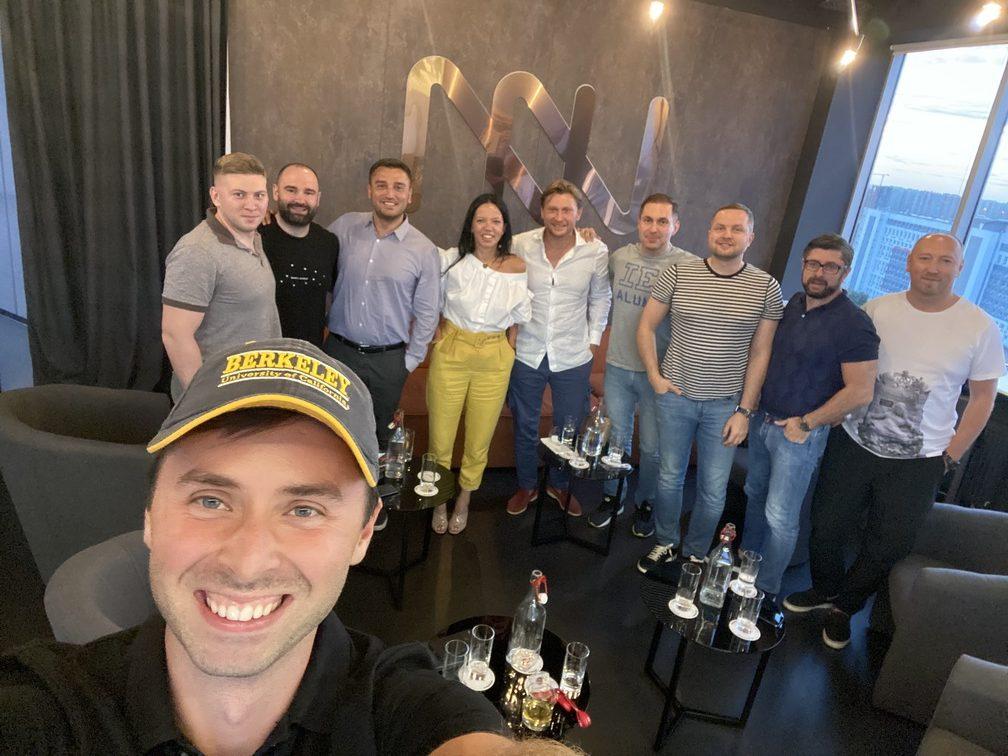 Максим Слободянюк с коллегами