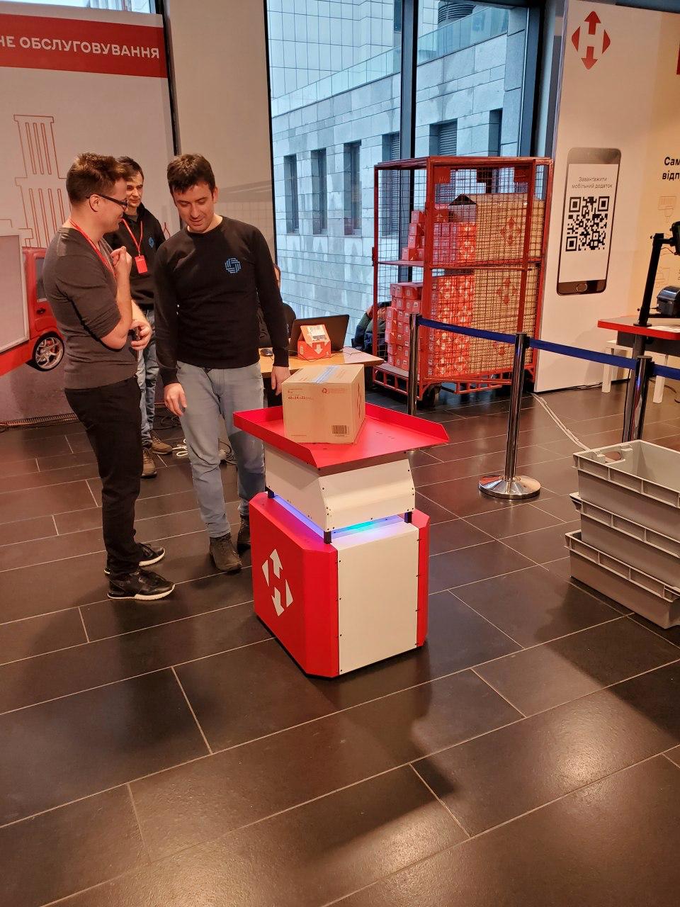 Deus Robots на выставке «Новой Почты»