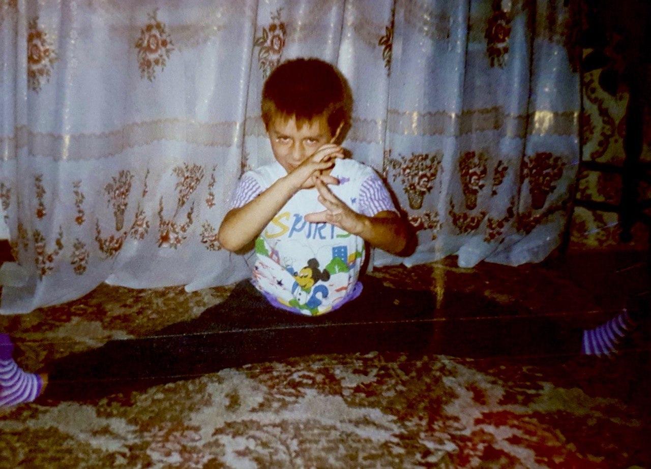 Максим Слободянюк в детстве