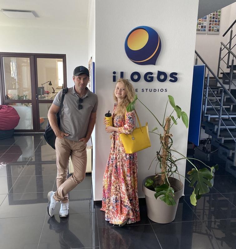 В офисе iLogos со Свитланкой Сергийчук (партнер в NTF)