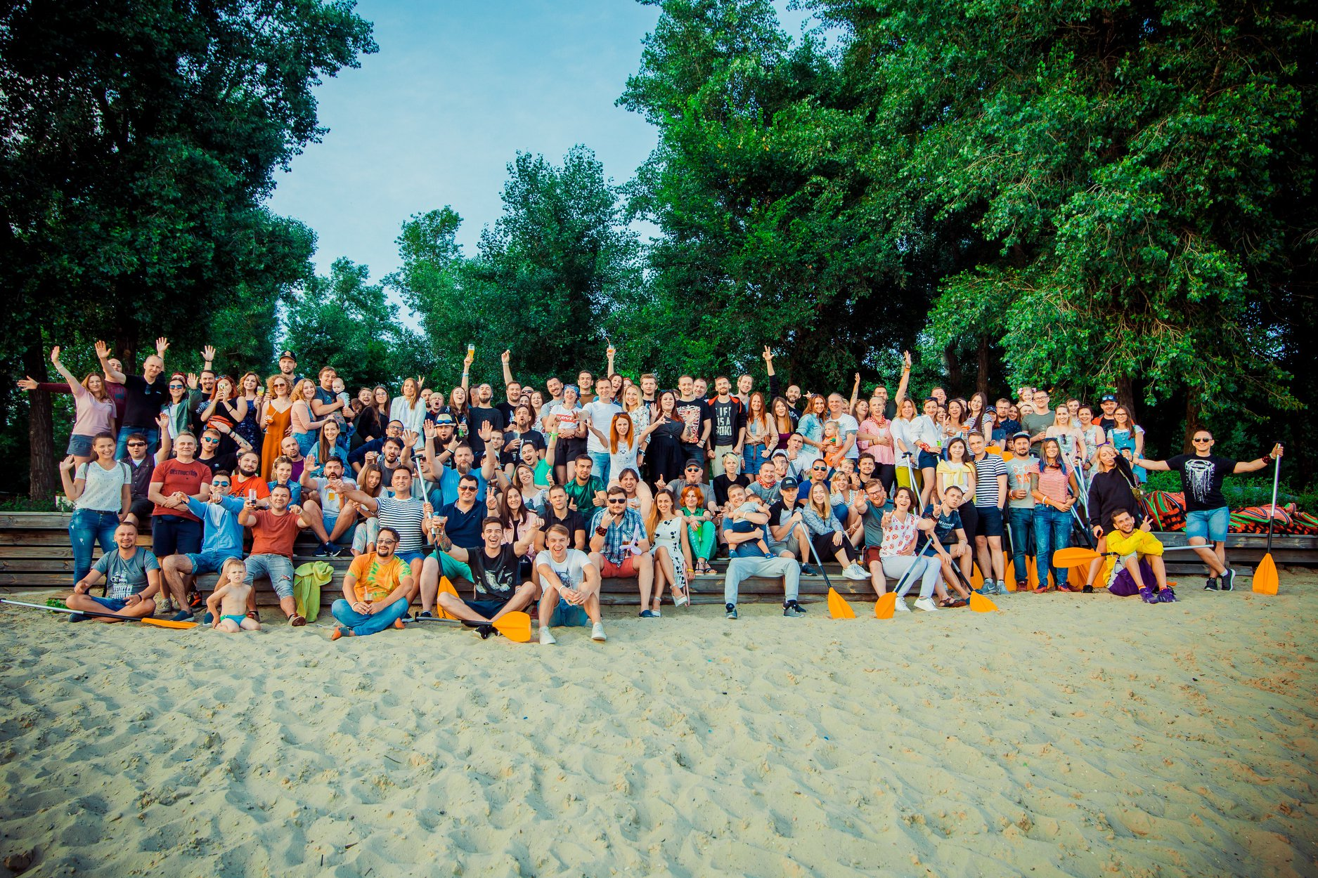 Команда Frag Lab на летнем корпоративе