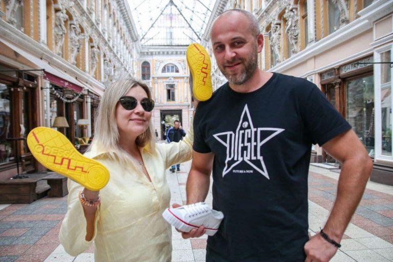 Екатерина и Алексей Чернийчук, сооснователи компании по производству обуви Gulls, 38 и 40 лет