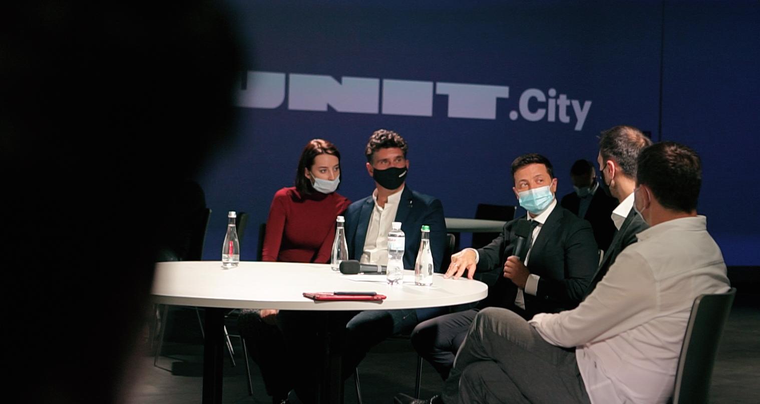 Володимир Зеленський на зустрічі зі стартаперами в UNIT.City