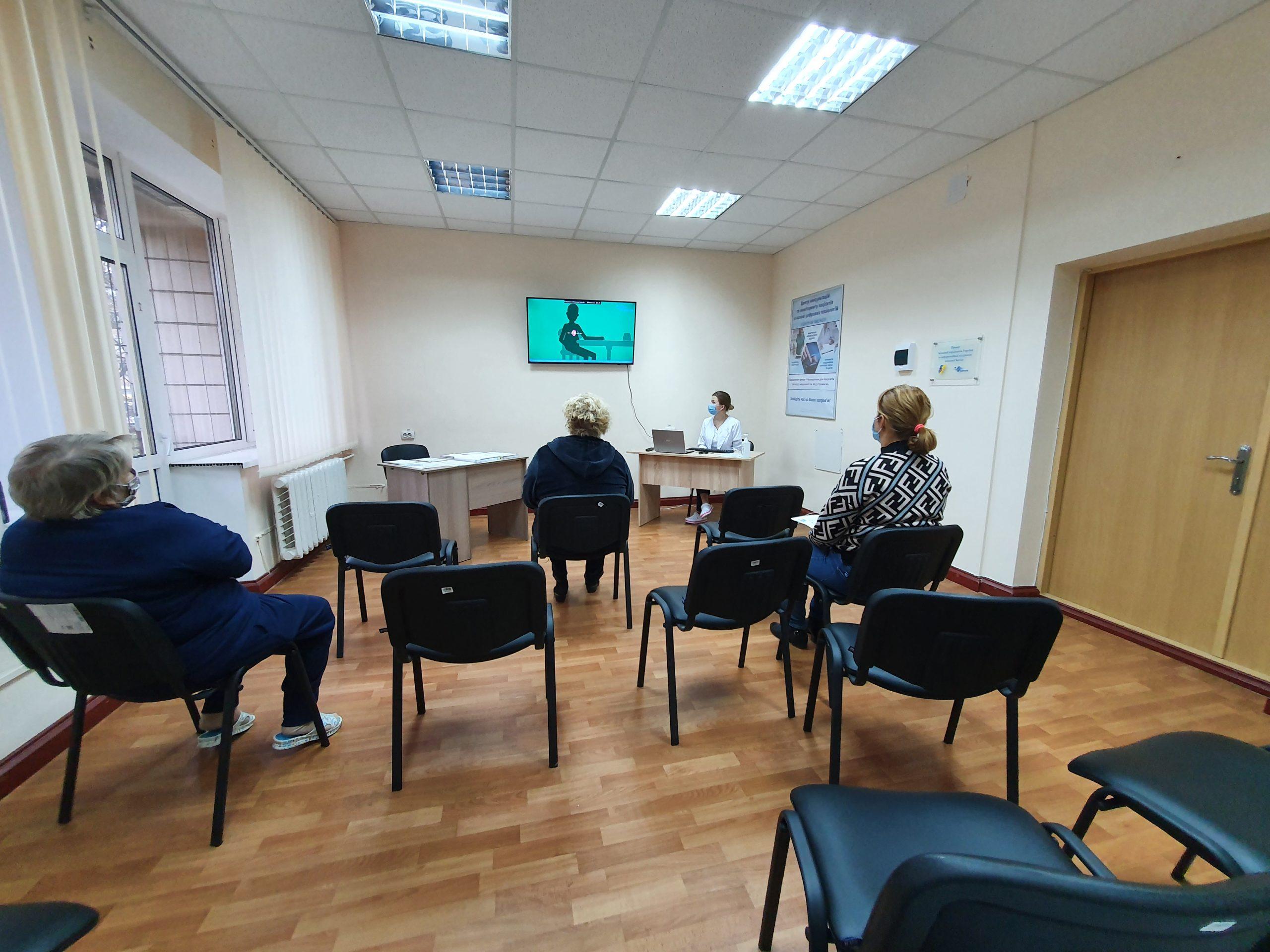 Освітній кабінет в Інституті кардіології імені М.Д. Стражеско