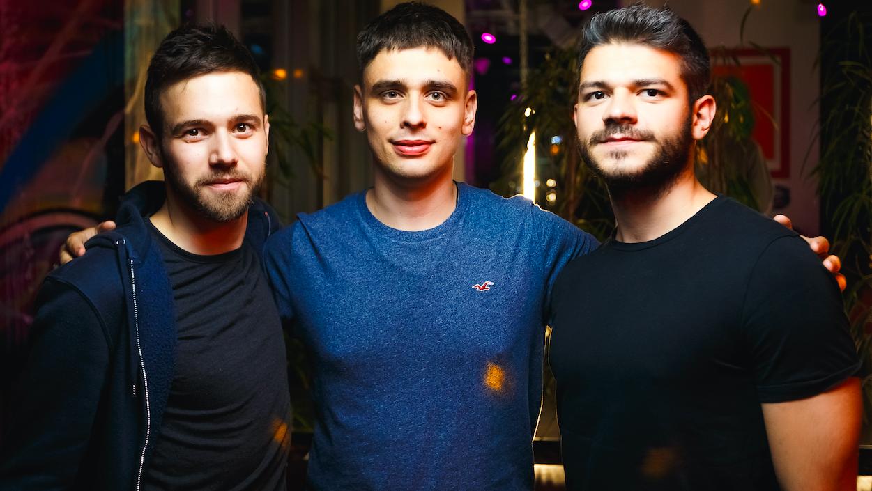Иван Борох, Дмитрий Смирнов, Артур Маркарян (слева направо)/ Фото из личного архива AmoMedia