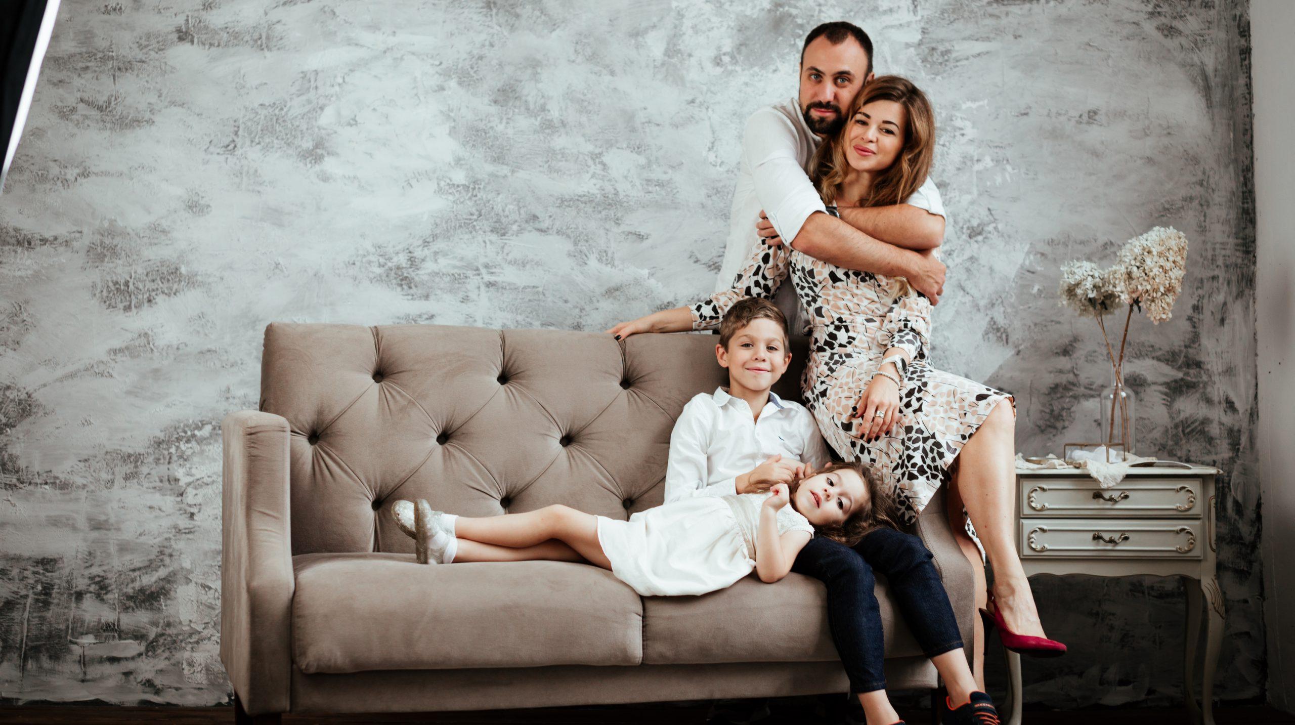 Анна и Борис Каплун с детьми