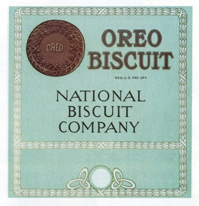 Упаковка Oreo, 1915 год. Источник: Business Insider