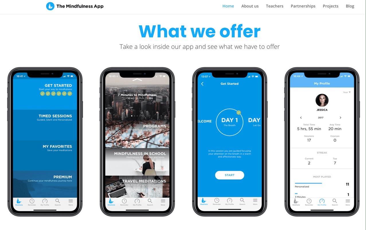 Скриншоты с демонстрацией работы приложения