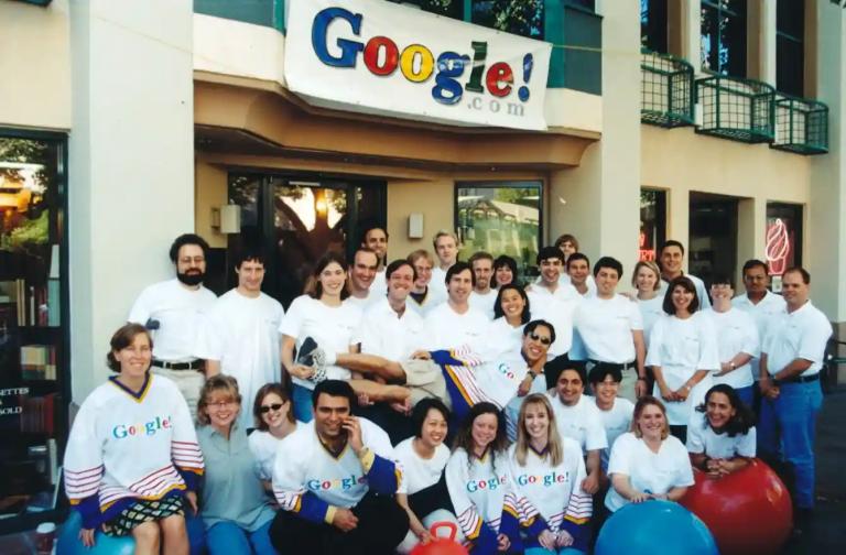 Совместное фото команды Google в Пало-Альто, Калифорния. Источник: The Guardian