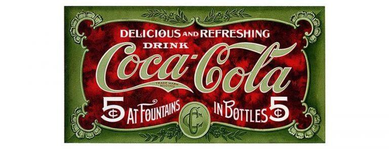 Одно из первых рекламных объявлений Coca-Cola. Источник: Coca-Cola