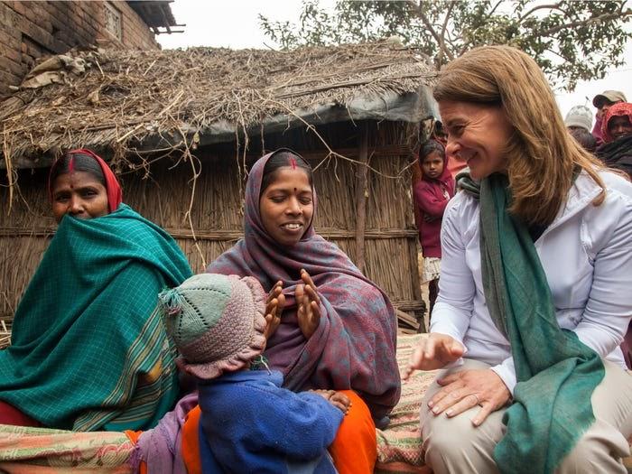Мелинда Гейтс, Индия, 2013 год. Источник: Business Insider