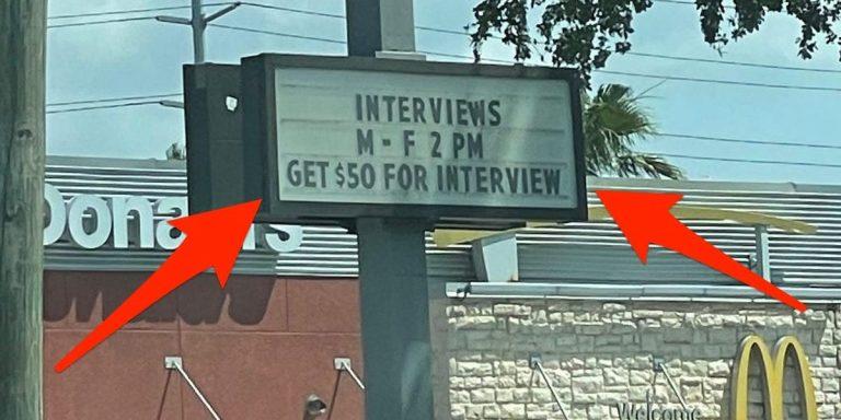McDonald's во Флориде начал платить $50 за собеседование: там никто не хочет работать