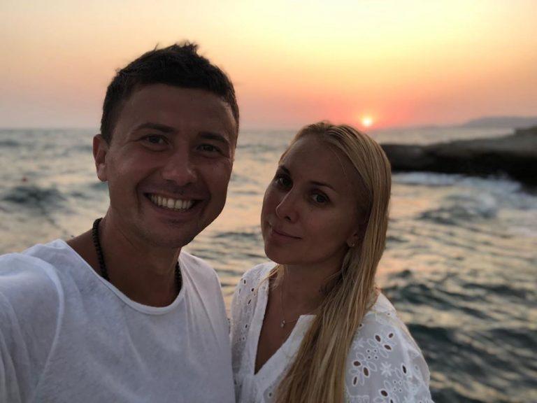 Андрей Буренок с женой
