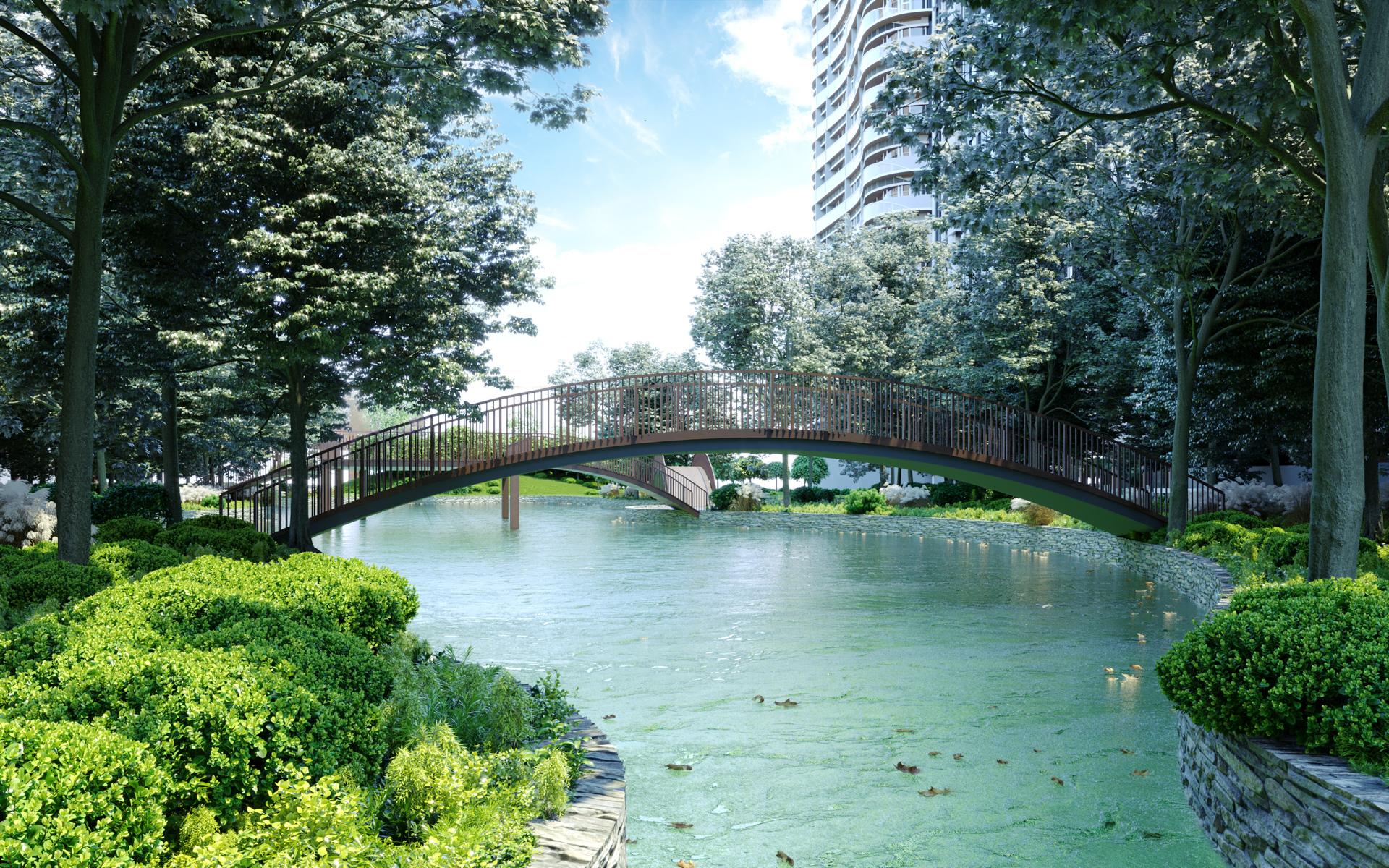 Парк на території житлового комплексу Creator City
