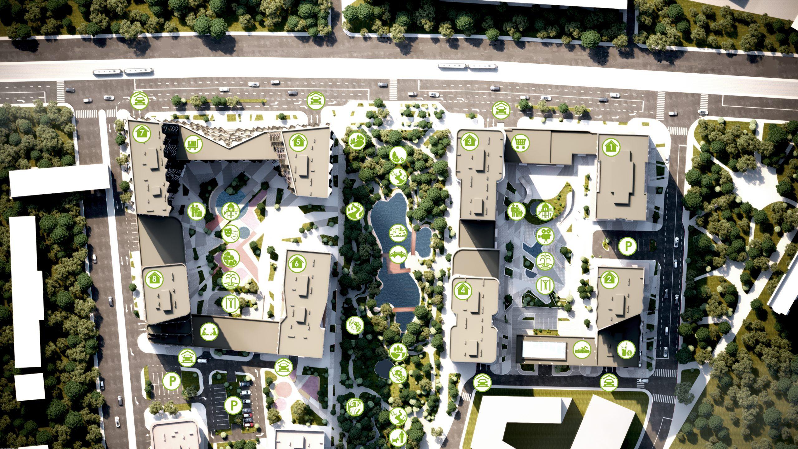Генеральний план житлового комплексу Creator City