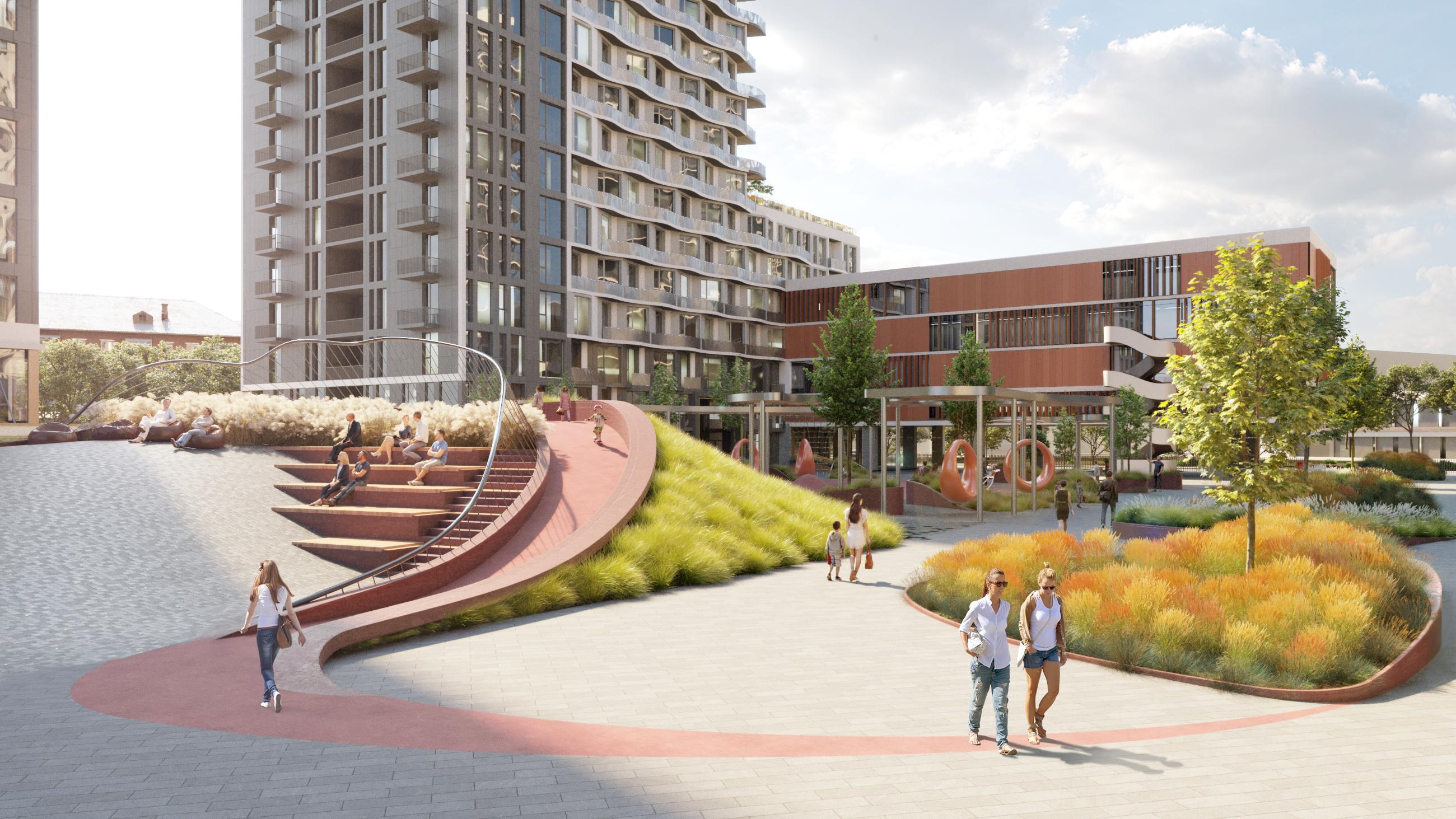 Візуалізація території житлового комплексу Creator City
