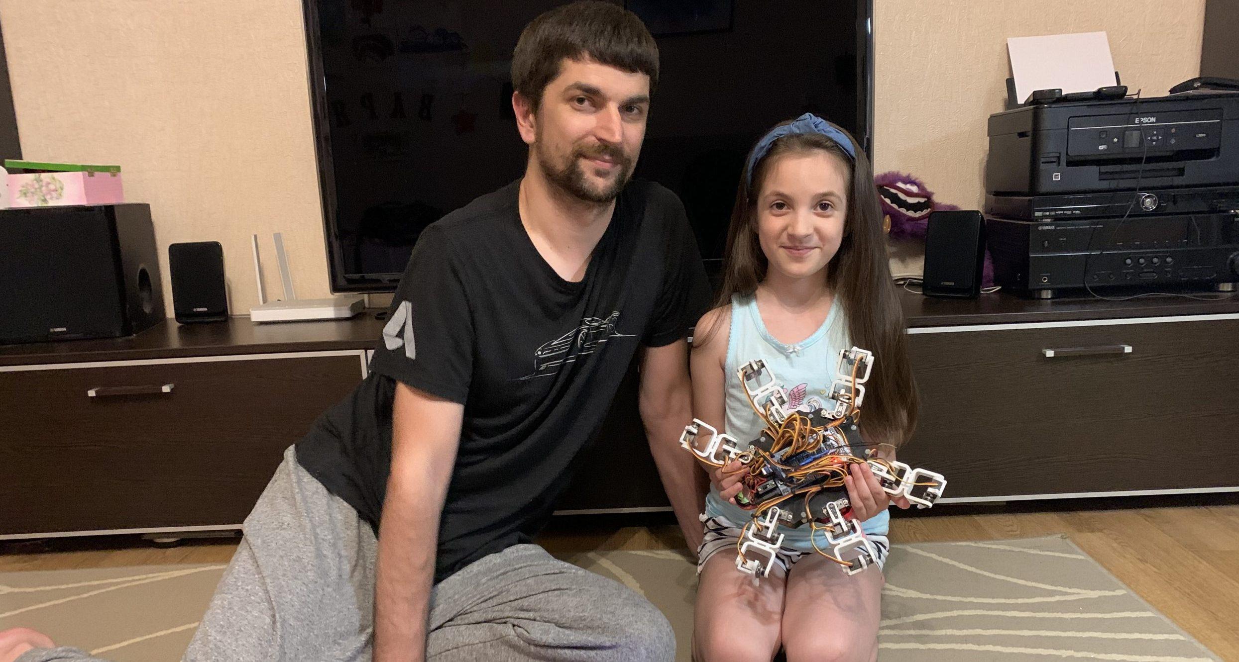 Олег Сподинець з донькою