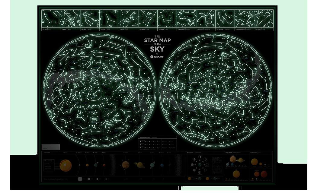 Звездная карта неба 1DEA.ME