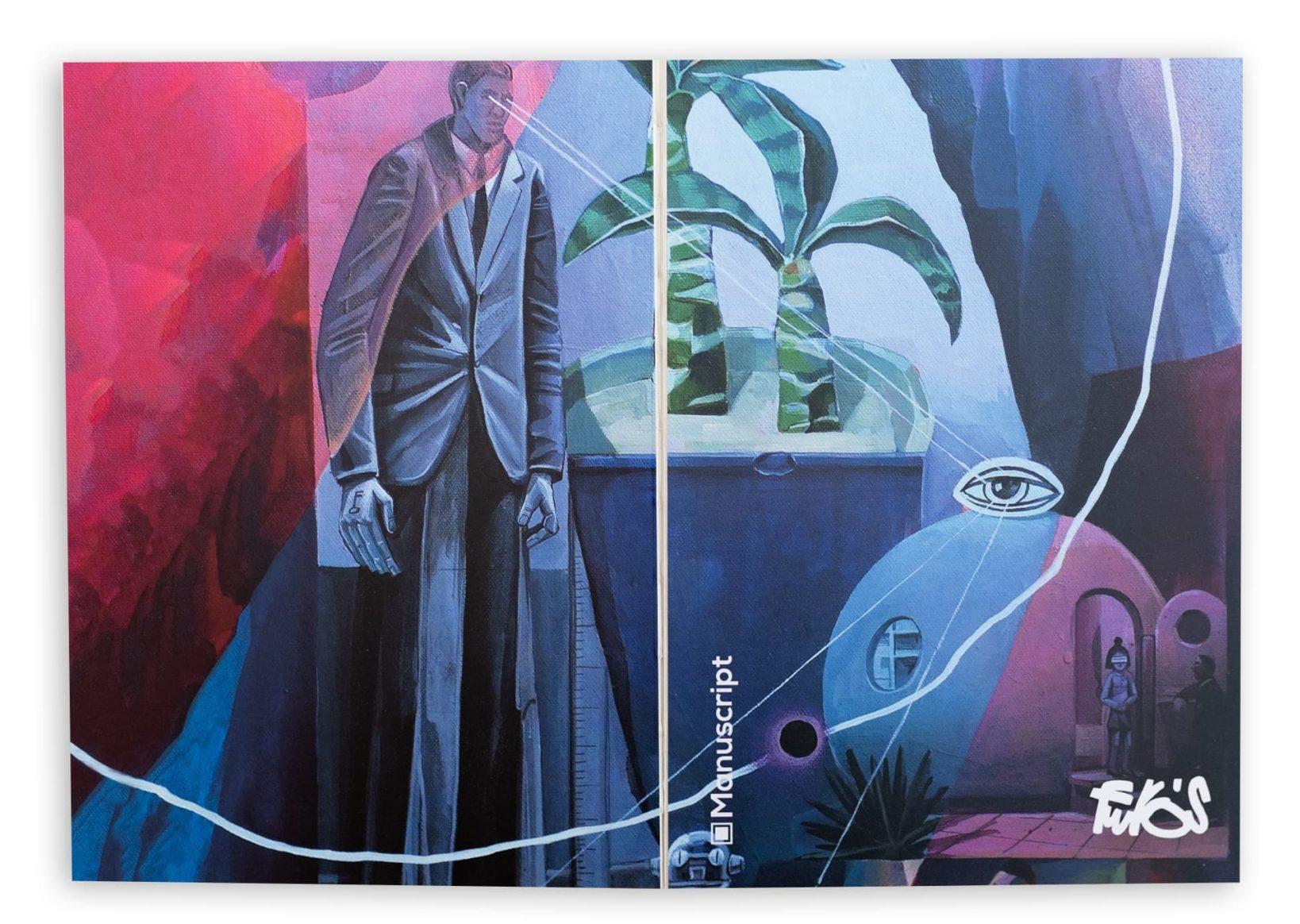 На обложке картина «is watching you» украинского художника Сергея Греха