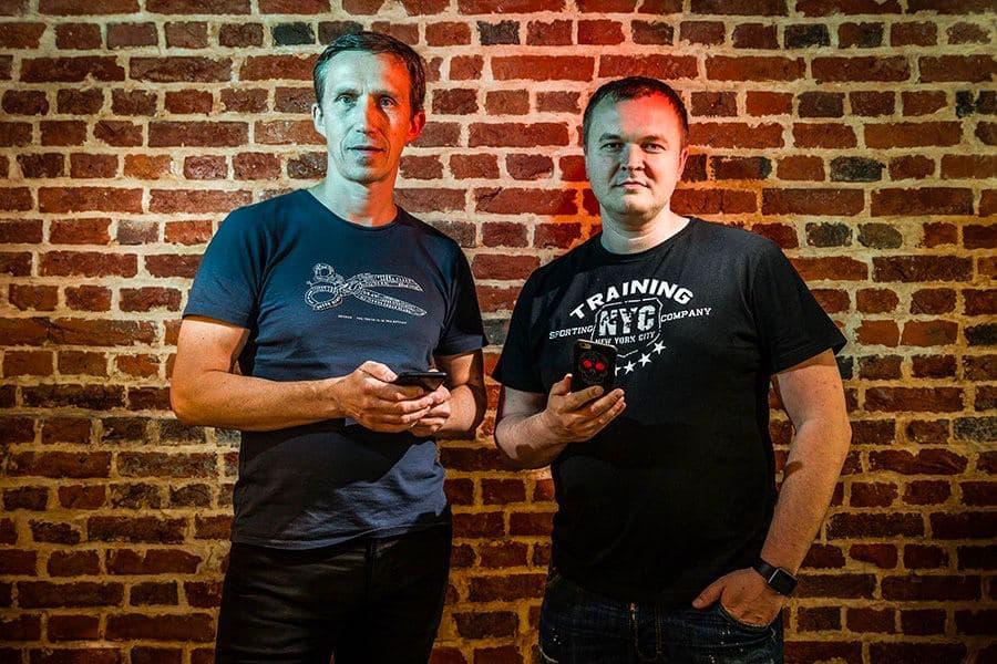 Денис Харитонов с дизайнером Lunecase